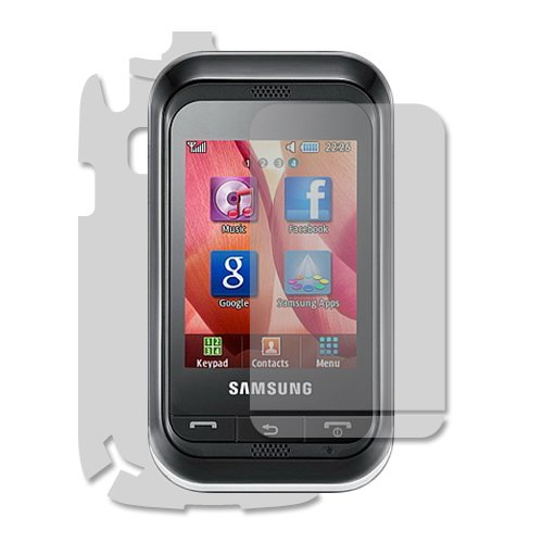 Skinomi TechSkin - Skin Protector Shield Full Body for Samsung Champ+ Lifetime Warranty
