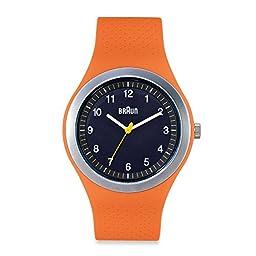 Braun Unisex Sports Watch in Orange