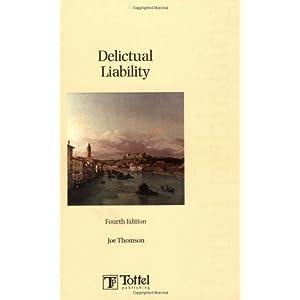 Delictual Liability (Paperback)