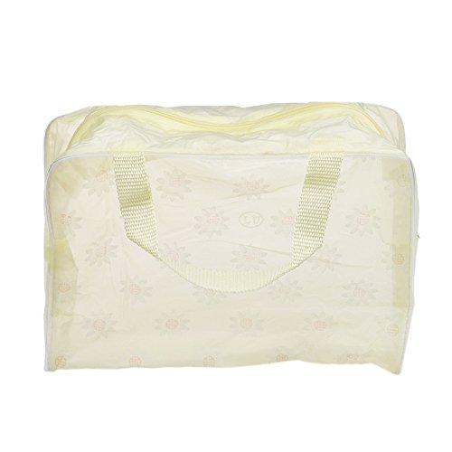 Longra Trucco cosmetico portatile toilette viaggio Lavare Spazzolino Pouch Bag Organizer (Giallo)
