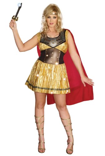 Golden Warrior Adult Plus Costume
