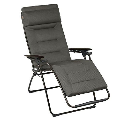 Lafuma - LFM3051-6895 - Futura Air Comfort, Sedia a sdraio pieghevole, imbottita, regolabile in diverse posizioni, colore: Marrone