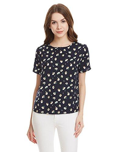 Jealous 21 Womens Body Blouse Shirt (JW1181_Navy Blue_36)