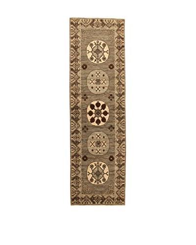 Design By Gemeenschap Loomier tapijt Bamiyan bruin / beige 87 x 297 cm