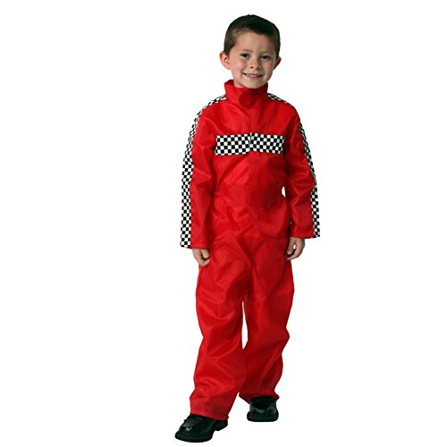 Boys Red Racecar Driver Jumpsuit (Choose Size)