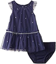 Nautica Baby Girls' Mesh Dress with M…
