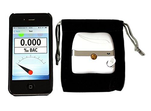 iBAC Bluetooth Alkoholtester Alkomat mit elektrochemischem Sensor LiIon Akku
