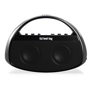 equinux tizi beat bag - Mobiler Bluetooth Lautsprecher mit Griff für iPad, iPhone, iPod, Tablets, Smartphones, PC und Mac (mit austauschbarem tizi Akku)