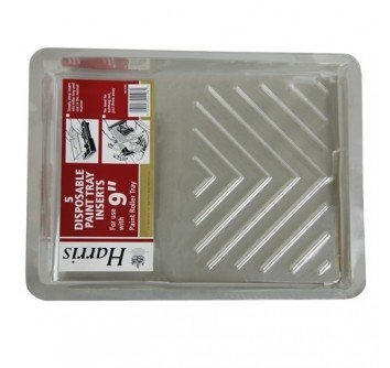 Harris 5 Disposble paint tray inserts for use with 9 paint roller Tray by Harris (Paint Roller Tray Inserts compare prices)