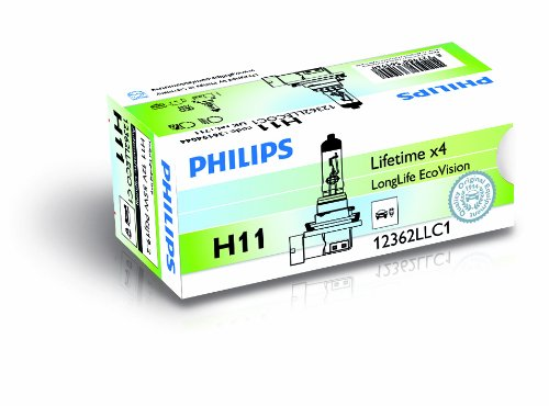 Philips 12362LLECOC1 - H11 Long Life Eco Vision C1, 12V, 55W
