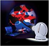 Mathmos Space Projector in White with Blue / Red Lava Lamp Effect