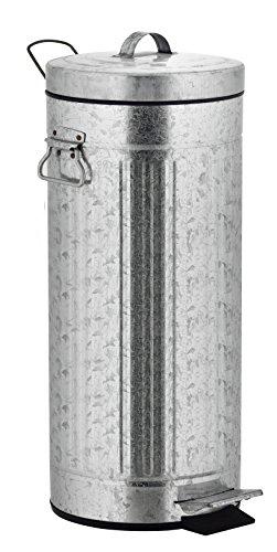 Kitchen Move 927984E INOX AS Rétro Style Industriel Poubelle à Pédale Métal/ABS/Plastique Acier 30 x 30 x 68,5 cm