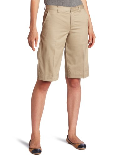 Stay cool in school with a pair of Bermuda shorts that stretch and move with her throughout the day. Good for both study and play.