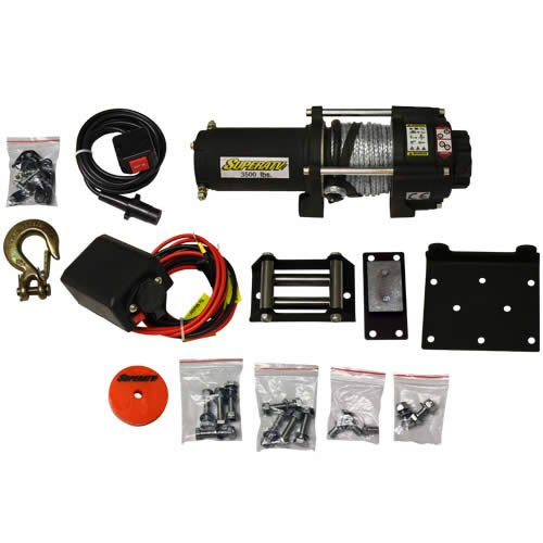 #1218 3500LB STEEL ROPE ATV WINCH