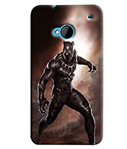 Blue Throat Man With Dress Angry Printed Designer Back Cover/ Case For HTC One M7
