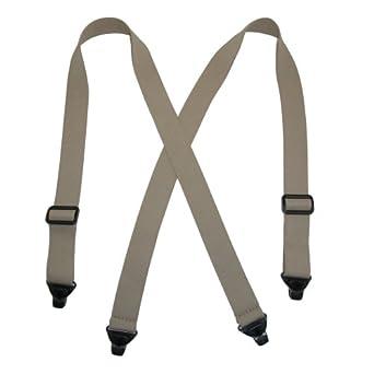 58588809320 CTM® Mens Elastic Plastic Clip-End TSA Compliant Airport Suspenders