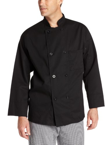 Dickies Men's The 8 Button Chef Coat, Black, 3X-Large (Jacket Chef Men compare prices)