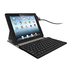 Kensington Keyfolio SecureBack Protective Security Case for with Bluetooth Keyboard and ClickSafe Lock for iPad 4 with Retina Display iPad 3 and iPad 2 (K67755AM)
