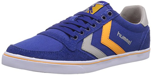 hummel HUMMEL SL STADIL CANVAS LO, Low-Top Sneaker unisex adulto, Blu (Blau (Limoges Blue 8543)), 43