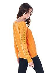 [The Classic Brand] Orange Eiffel Tower Knitted Sweater Medium