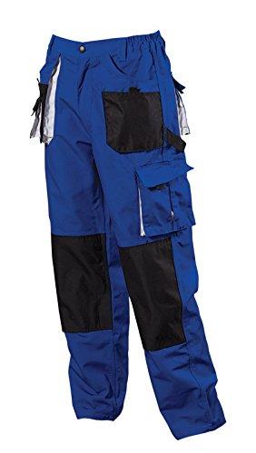 Herren-Arbeitshose-mit-Kniepolstertaschen-Bundhose-blau