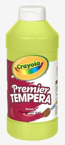 Crayola Fluorescent Paint 16-Ounce Plastic Squeeze Bottle, Chartreuse