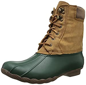 Sperry Top-Sider Women's Shearwater Boot, Green/Tan, 7 M US