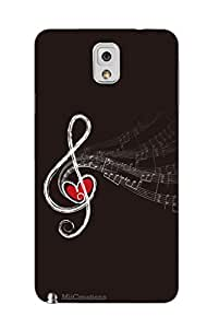 MiiCreations 3D Printed Back Cover for Samsung Galaxy Note 3,Music