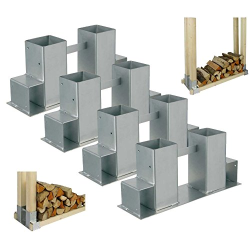 1 4er set kaminholz stapelhilfe brennholz holz stapelhalter stapeln gestell lager regal spar. Black Bedroom Furniture Sets. Home Design Ideas
