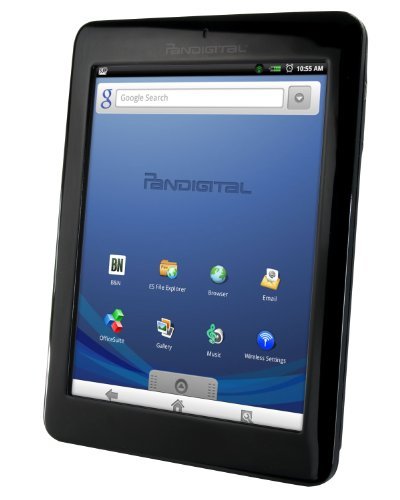 Pandigital Novel 2GB 7-Inch WiFi Multimedia Android Tablet and Color eReader R70E200 (Black) - Factory Remanufactured and Warrantied