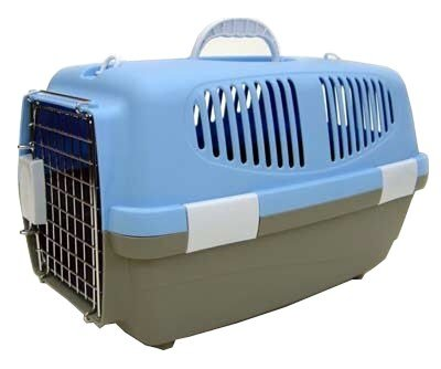 Fashion    Carrier on Dog Cat Pet Kennel Carrier Cage 18 X 11 X 12 Z100s Blue   Cat Supplies