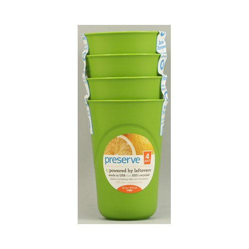 Preserve Reusable Cups Apple Green - 16 Oz Each / -Pack of 8