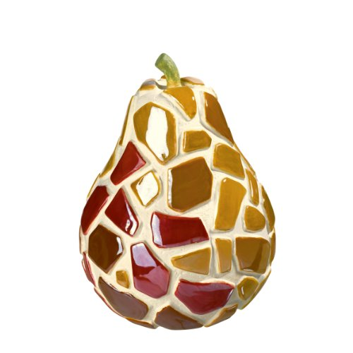 Grasslands Road Mosaic Pear Figurine, 4-Inch, Set Of 4 front-846596