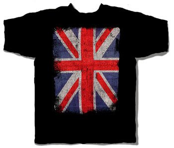 Price Busters - Union Jack Adult T-Shirt, Size: X-Large, Color: Black