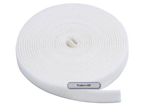 Fastening Tape 0.75-inch Hook & Loop Fastening Tape 5 yard/roll - White