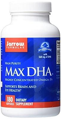 Jarrow High Purity Max DHA Omega 3 (560mg, 180 Softgels)