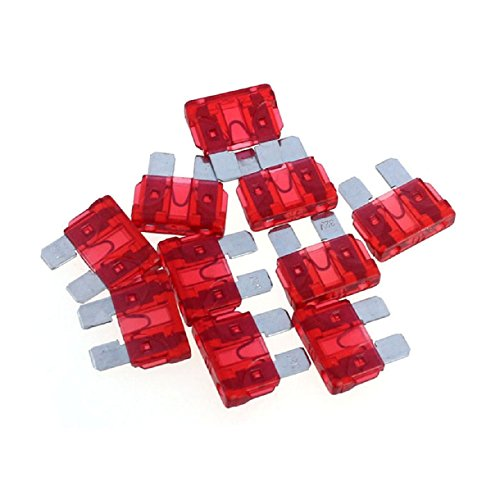 Sannysis(Tm) Useful 50Pc Car Accessory Assorted Auto Truck Boat Standard Blade Fuse 30A(Red)