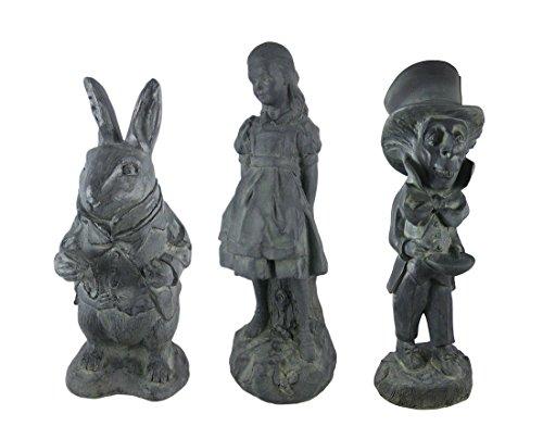alice-in-wonderland-white-rabbit-mad-hatter-alice-oxidized-garden-statue-set