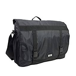 Eastsport Double Buckle Laptop Messenger (Black)