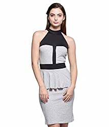 Tryfa Women's Dress (TFDRPL0000157-L-L_Grey_Large)