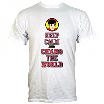 Keep Calm and Chang The World Tee-Shirt Homme inspiré par Community