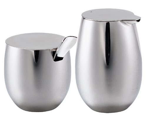 Bodum Columbia Stainless Steel Sugar And Creamer Set
