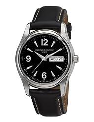 Frederique Constant Men's FC-242B4B26 Junior Black Day Date Dial Watch
