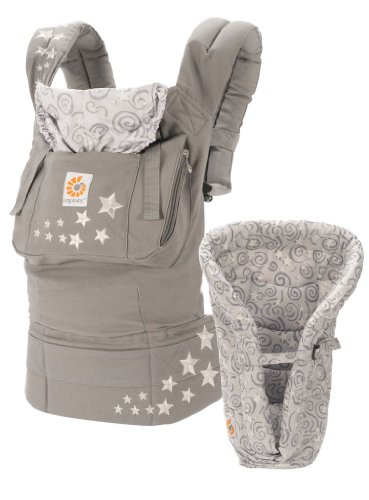 ERGObaby Original Bundle of Joy Carrier and Infant Insert, Galaxy Grey