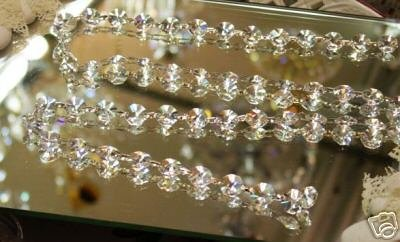 Asfour Chain of 52-14mm Octagon Crystals