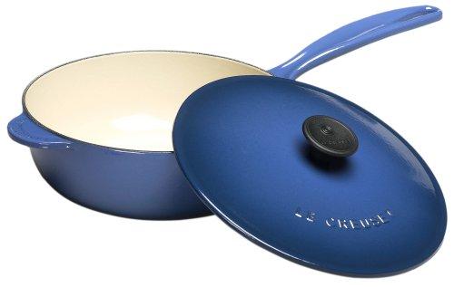 Le Creuset Enameled Cast-Iron 2-1/4-Quart Saucier Pan Cobalt (Blue)