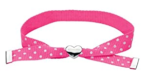 Kit Heath Kids Sterling Silver and Ribbon Pink Friendship Bracelet 79109PK