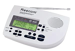 Unique 185 Hours Back-up Battery Life Time (Standby), Reecom R-1650D S.A.M.E Weather Alert Radio with AM/FM (Light Grey), Alert Message and Effective Time Count Down Display At a Glance, 25 Event Memories
