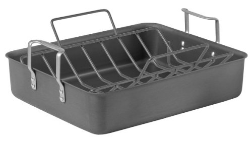 Calphalon Classic Hard Anodized 16-Inch Roaster with Nonstick Rack