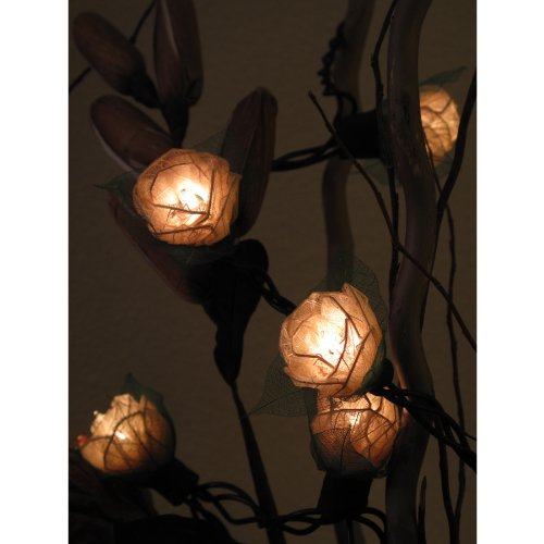 Decorative Rose String Lights, 9-Foot Long, Natural Color, UL Listed